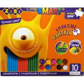ПЛАСТИЛИН 10 кольорів, 200 г ZB.6223