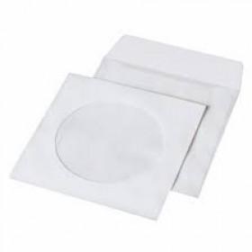 КОНВЕРТ для CD/DVD бел окно