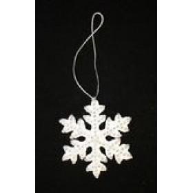 """ПІДВІСКА """"Сніжинка"""" d-10см білий Е5132621С-W"""