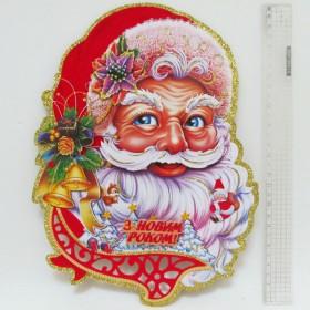 Новогодняя декорация 40*30см Дід Мороз  8415-2