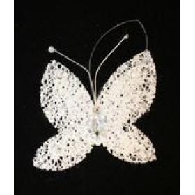 """ПІДВІСКА """"Метелик"""" 13х9см білий D415211"""