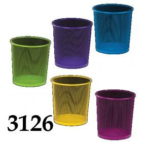 КОРЗИНА Д/БУМАГ метал  кругла 26,5х28см цветная ZB.3126