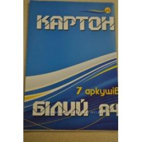 "КАРТОН БЕЛЫЙ 7л ""Тетрада"" А4"
